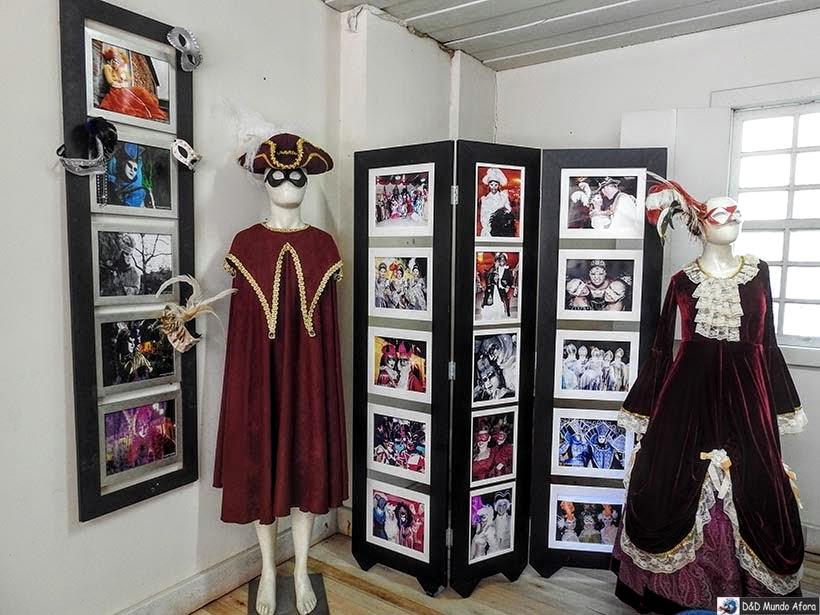 O que fazer em Nova Veneza - Museu do Imigrante - exposição do Carnevale di Venezia