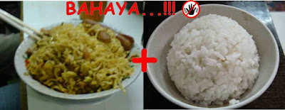 Bahaya makan mie instant ditambah nasi