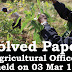 Kerala PSC - Agricultural Officer Solved Paper Held on 03 Mar 2016