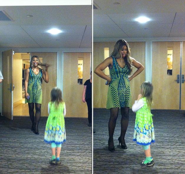 Menina trans de 7 anos se encontra com Laverne Cox, de Orange is the New Black