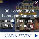 Menang Honda City dan barangan Samsung
