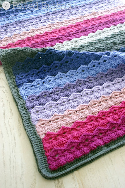 Royal Icing Blanket Crochet Pattern by Susan Carlson of Felted Button