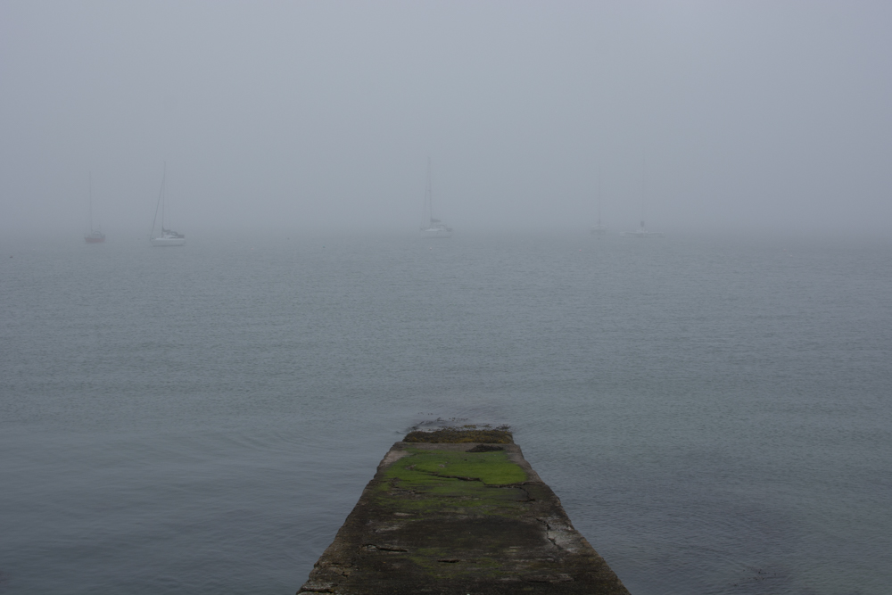 North Wales Snowdonia Photo Diary holyhead marina fog