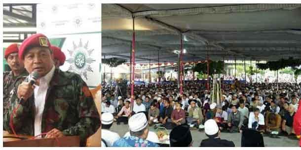 Meluber Hingga ke Jalan, Warga Solo Antusias Hadiri Tabligh Akbar Ustadz Bachtiar Nasir
