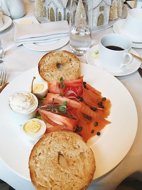 the lox bagel at the Lafayette restaurant at the Hay-Adams hotel