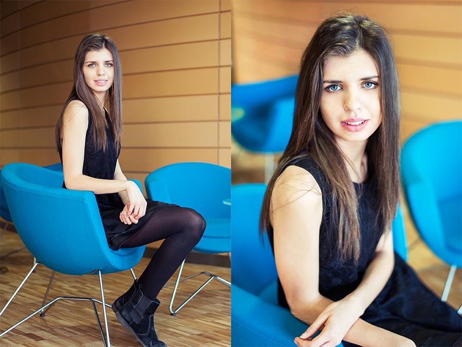 Piękna dziewczyna z niebieskimi oczami. Lublin.