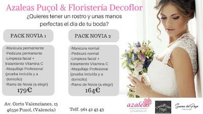 Floristería Decoflor Puzol comparte Pack con el centro de estética Azaleas