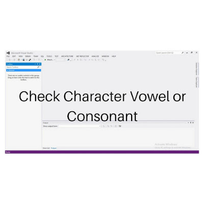 C Sharp Program To Check If A Character Is Vowel Or
