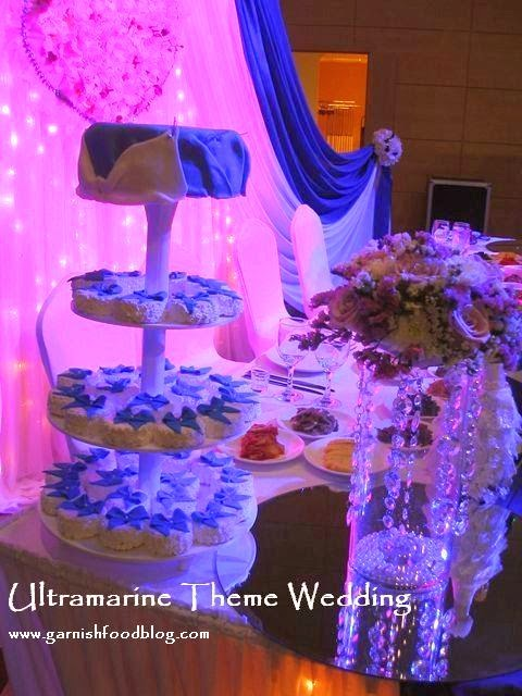 blue color wedding decoration