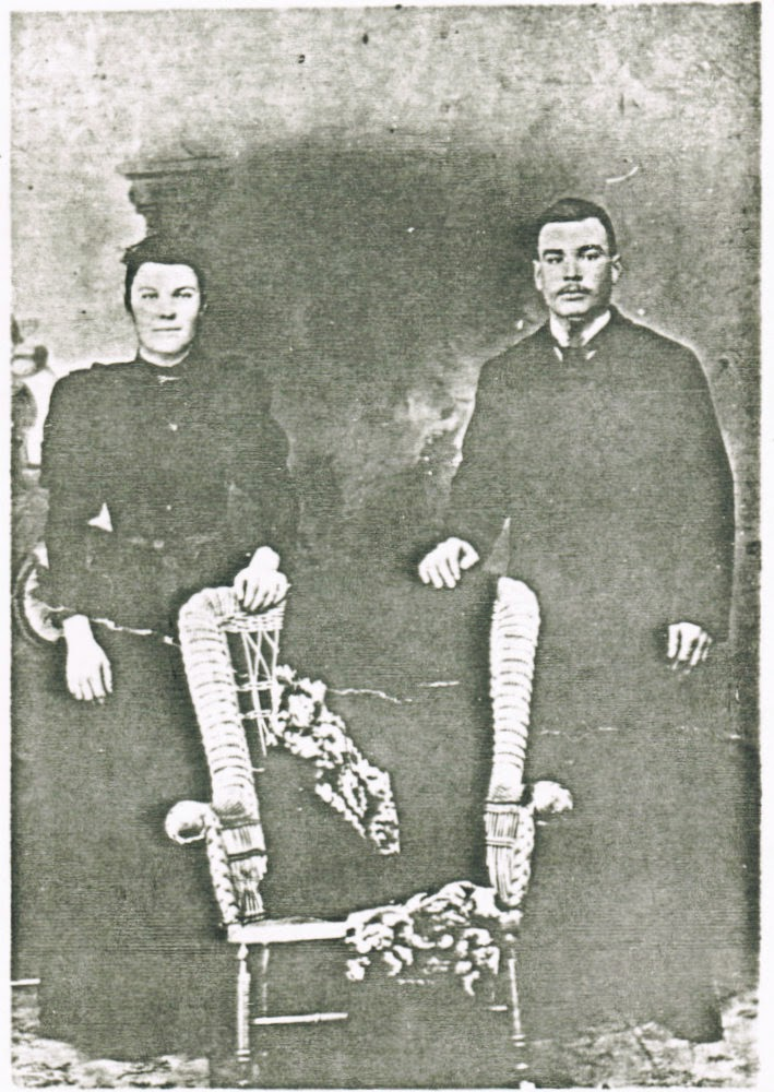 Joseph Beauvais and his wife Olivine Hotte in about 1897