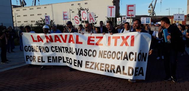 manifestación trabajadores de La Naval