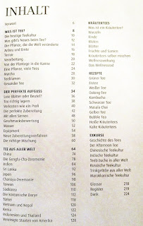 """Inhaltsverzeichnis """"Das Teebuch"""""""