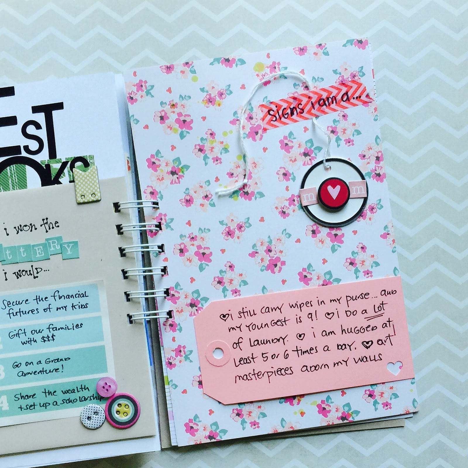 #smashbook #mixedmedia #journaling #lists #mini album #mom