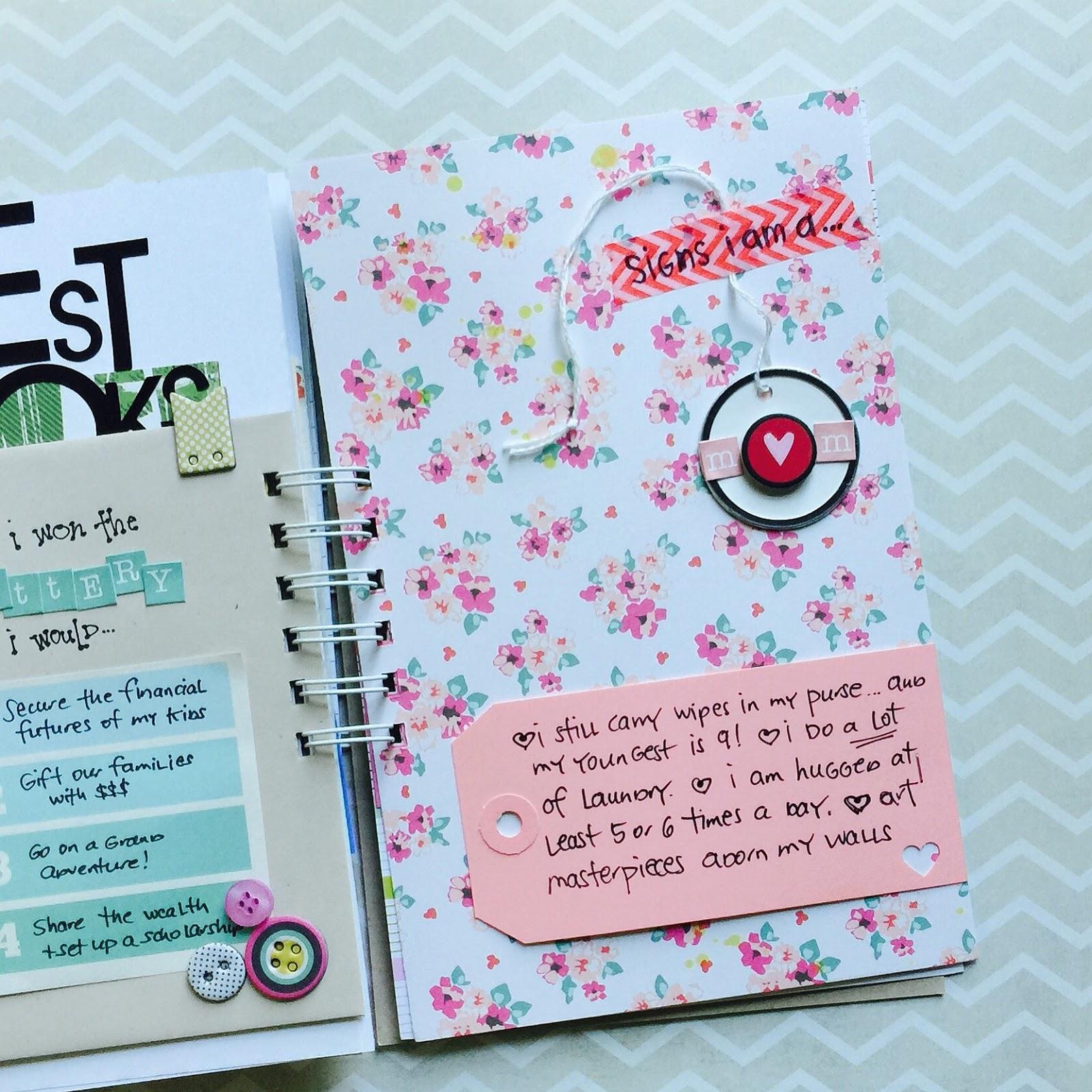 #smashbook #mixedmedia #journaling #lists #mini album #mom