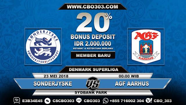 Prediksi Bola Sonderjyske VS AGF Aarhus 23 Mei 2018
