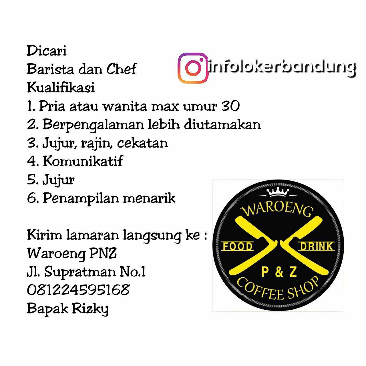 Lowongan Kerja Waroeng PNZ Bandung November 2017