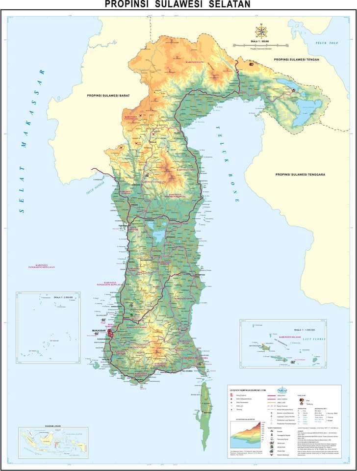 peta sulawesi Selatan / South sulawesi map