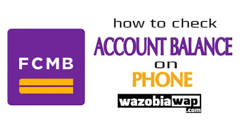 how to check fcmb account balance