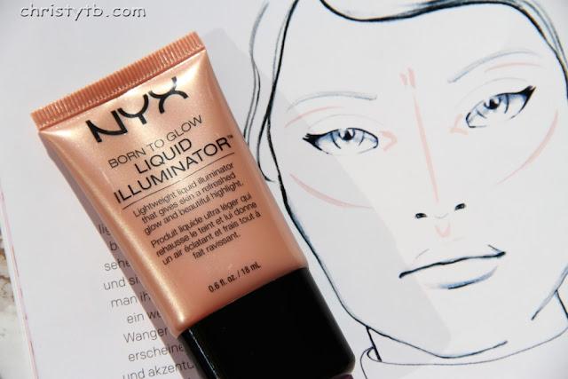 Жидкий кремовый хайлайтер NYX Born to Glow liquid illuminator оттенок 02 Gleam