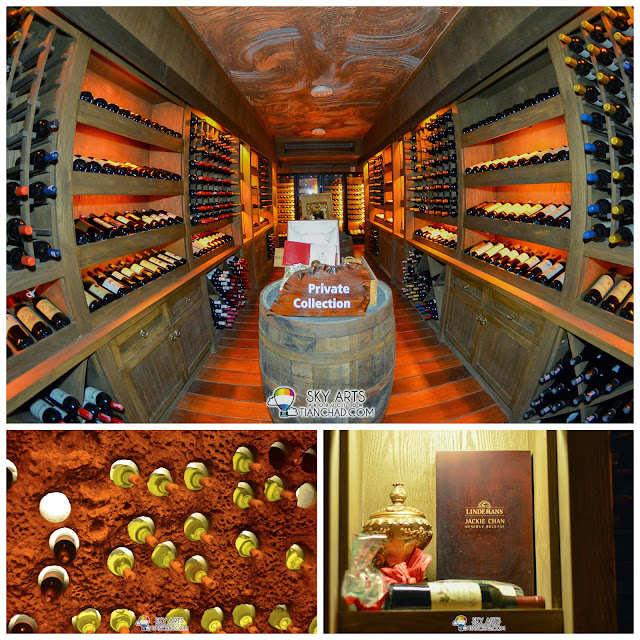 Variety collection of wines inside The Cellar @ The Banjaran Hotsprings Retreat, Ipoh
