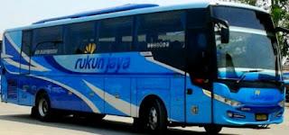 rute dan tarif bus rukun jaya