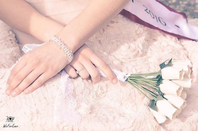 bracelet reveries cristallines rose et blanc