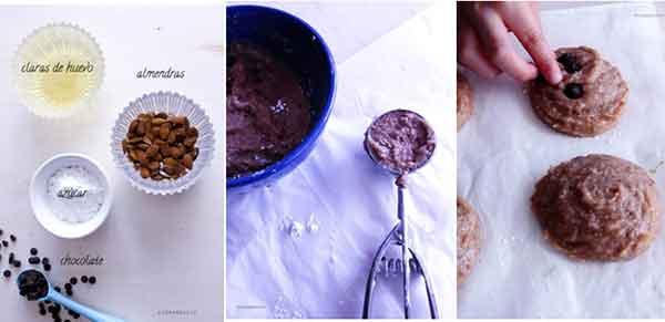 Galletas de almendras y chocolate #singluten #sinlactosa -kidsandchic