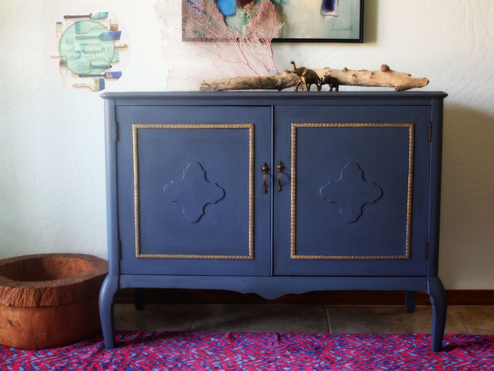 Furniture & Art: Dark Blue And Gold
