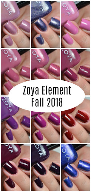 zoya element collection pinterest graphic
