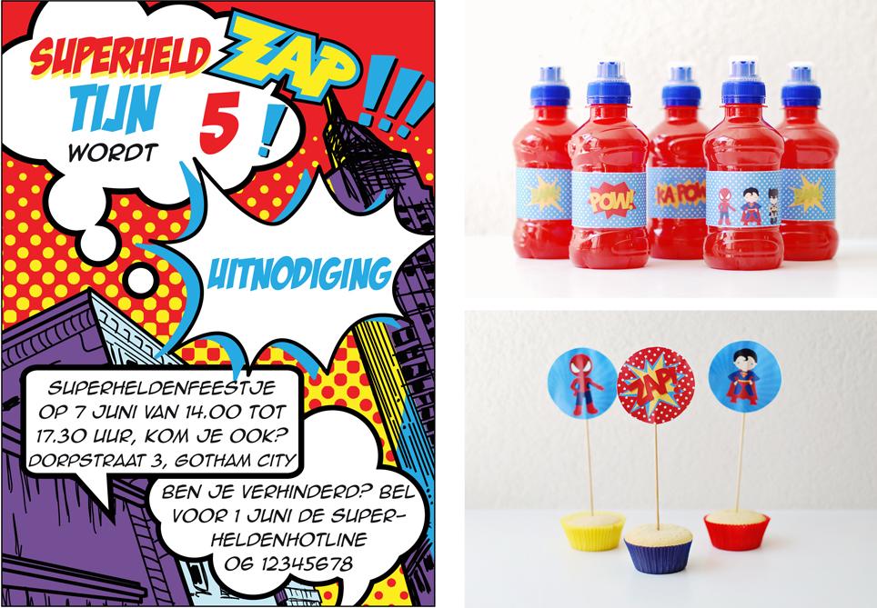Genoeg miepisch }: Superhelden ~ Kinderfeest ZP18