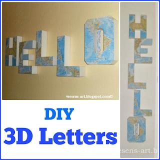3D Letters wesens-art.blogspot.com