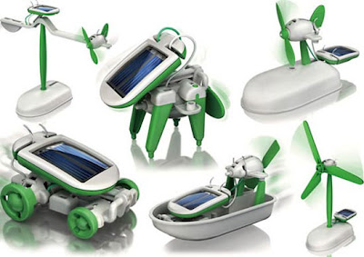 Top Solar Powered Gadgets and Gifts - Transforming 6-in-1 Robot Kit (20) 1