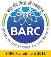 BARC Recruitment 2016