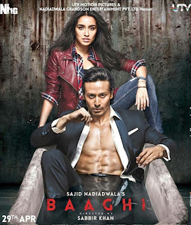 Senarai Filem Bollywood Bulan April 2018, List Filem Bollywood - April 2018, Bollywood Movie, Hindi Movie, Filem Hindustan, Review By Miss Banu, Blog Miss Banu Story, Poster Filem Baghi, Baghi, Baghi 1, 2016, Baghi Cast, Pelakon Filem Baghi, Tiger Shroff, Shraddha Kapoor, Sudheer Babu, Shaurya Bhardwaj, Sunil Grover, Sinopsis Baghi,