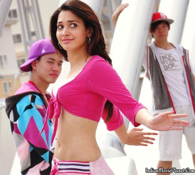 actress tamanna hot navel showing images pink dress