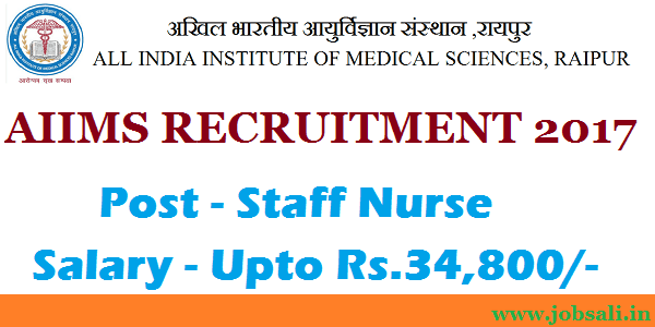 AIIMS Recruitment 2017 for Staff Nurse Posts – Apply Online