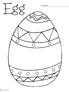 easter egg coloring pages preschool   Little Stars Learning: Easter/Egg Coloring and Pre-writing ...