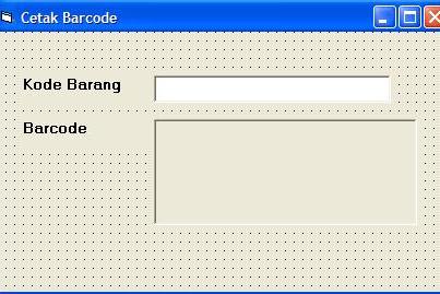 Source Code dan Step by Step Membuat Barcode di VB 6.0