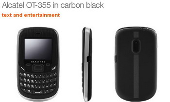 Alcatel OT-355 QWERTY phone for Orange UK