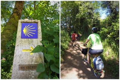 indicacion-camino-de-santiago-bicicleta-brompton