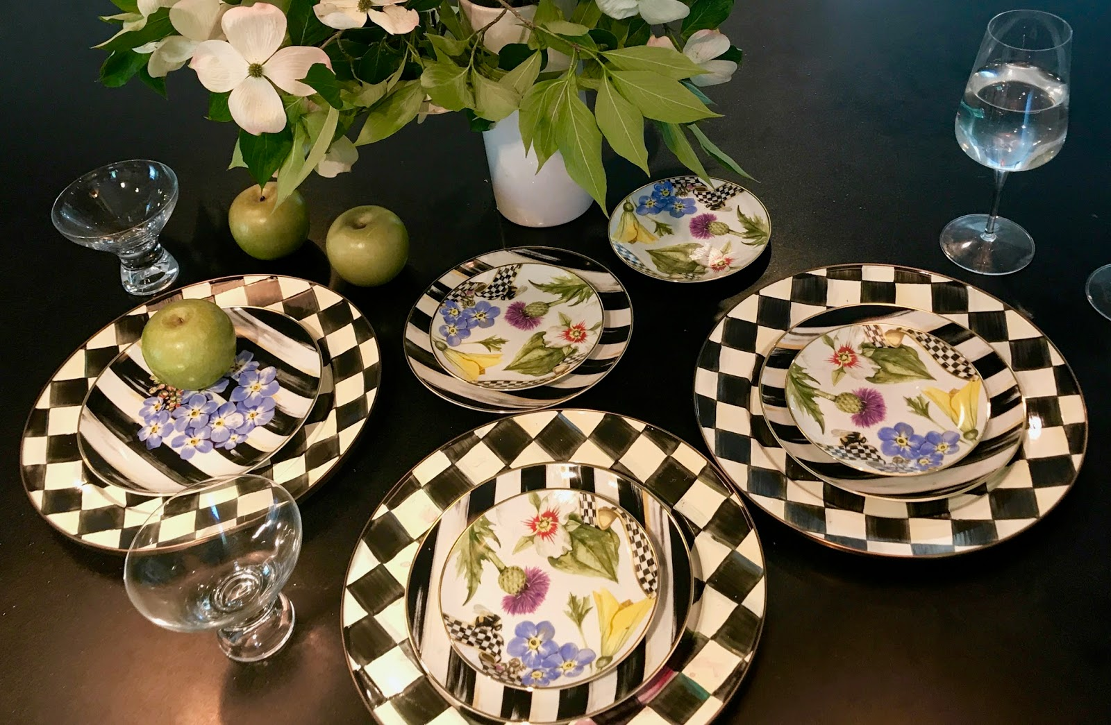 My fatheru0027s wife had given me the iconic Courtly Check tea kettle for Christmas this year so I was really excited to receive the matching plate chargers. & The Most Beautiful Dinnerware and More From MacKenzie-Childs Summer ...