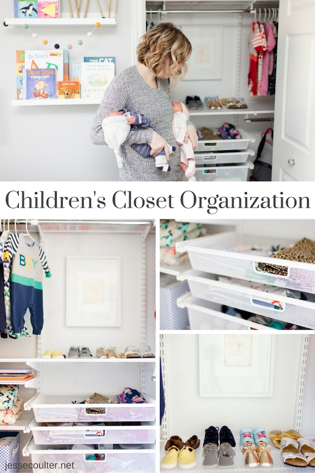 Nursery closet, baby closet, toddler bedroom, nursery, neutral nursery, twin bedroom, twin nursery, closet organization, kids bedroom, kids closet organization