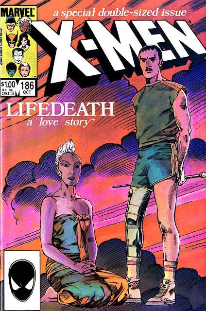 X-men v1 #186 marvel comic book cover art by Barry Windsor Smith