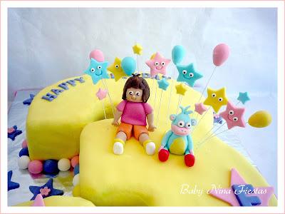 dora the explorer cake fondant