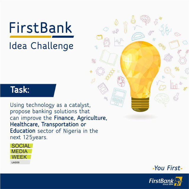 N500K For Grabs in FIRST BANK Ideas Challenge 2019