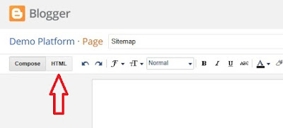Add HTML Sitemap Page In Blogger-3