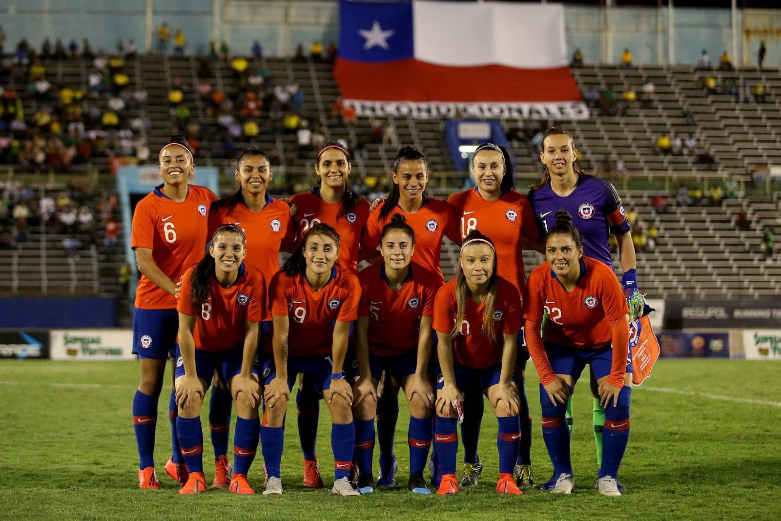 Formación de selección femenina de Chile ante Jamaica, amistoso disputado el 28 de febrero de 2019