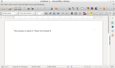 Times New Roman font in LibreOffice for Ubuntu
