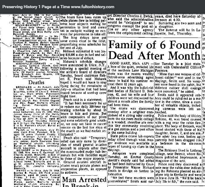 What Really Happened To Teresa Halbach The Musings Of Edward Wayne Edwards Zodiac And Serial Killer About The Robison Family Murder Good Hart Michigan 1968