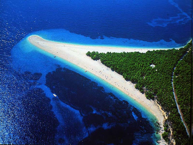 best beach in europe? zlatni rat, croatia, perfect